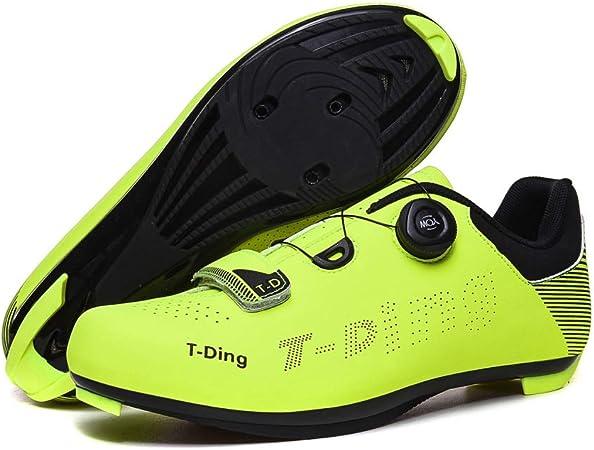 T-Ding Zapatillas De Ciclismo,Calzado De Montaña para Hombre Bicicleta De Carretera Sin Candado Calzado Deportivo para Exteriores Asistido por Energía para Mujer,Green-42EU: Amazon.es: Hogar