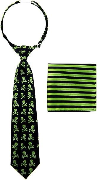 Corbata Canacana, con nudo integrado, diseño de calaveras y rayas ...