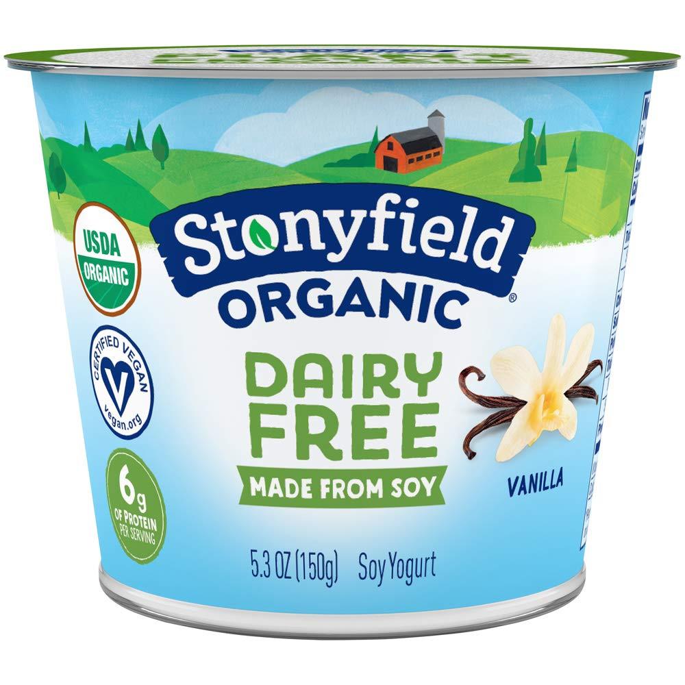 Stonyfield Organic Dairy Free Vanilla Soy Yogurt 5.3 oz. Cup
