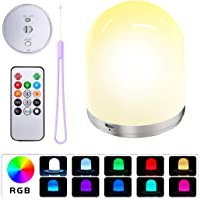 Night Light for Kids, LED Night Light with Hook Rechargeable Bedside Lamp for Bedroom, Living Room, Dimmable Warm White…
