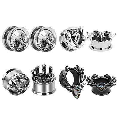 Amazon.com: TBOSEN - 4 pares de dilatadores de acero ...