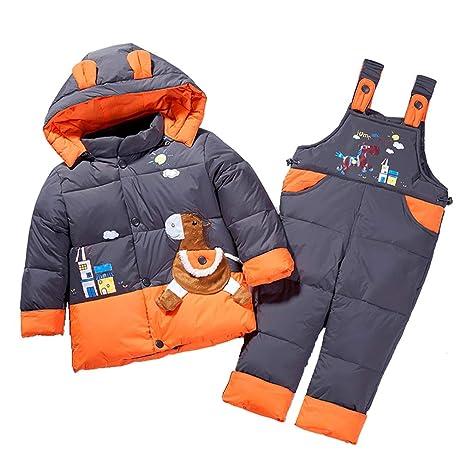 7f36a0d0d Bebé Traje de Esquí Niño Niña Invierno Ropa Set Chaqueta Establece Deporte Cálido  Abajo Chaquetas de