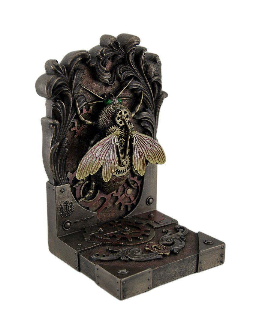 Polyresin Decorative Bookends Brigid Ashwood Steambee Steampunk Bee Decorative Bookend 4.5 X 7.5 X 4.5 Inches Bronze
