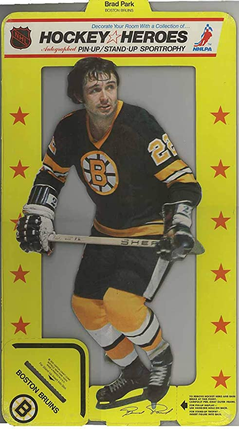 official photos aead6 1f16c 1975 Hockey Heroes Stand-Up Brad Park - Boston Bruins ...
