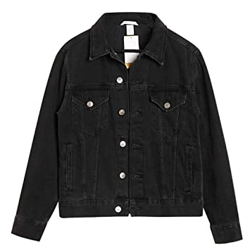 Amazon.com: Womens Black Denim Jacket Fashion BF Loose ...
