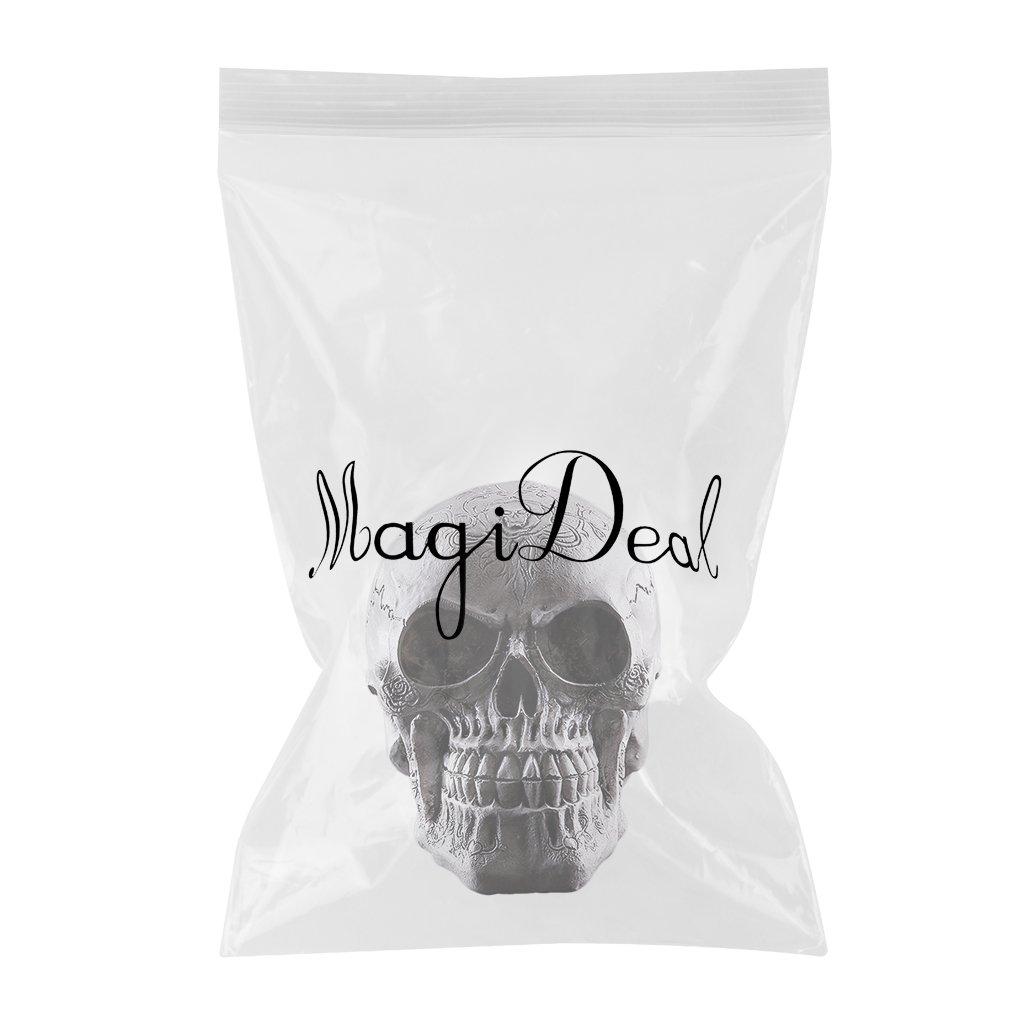 MagiDeal Mod/èle Cr/âne Statue Figurine Squelette de T/ête Humain D/écoration # 3
