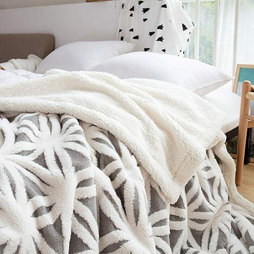TEALP Sherpa Fleece Blanket Fluffy Soft Blanket Dual Sided Throw Blanket Travel Camping Blanket fit Couch Sofa Bed (Gris, 63x79 Pulgadas): Amazon.es: Hogar