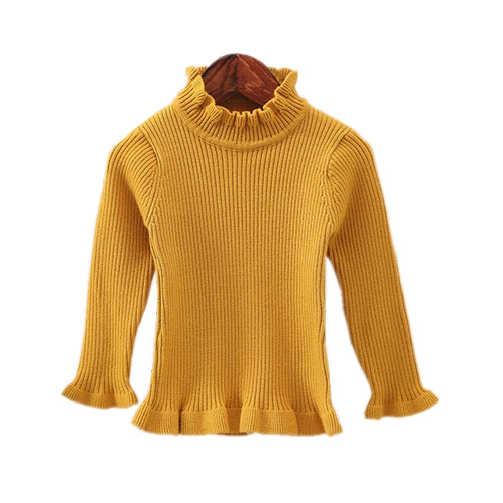 KIMJUN Toddler Baby Girls Pullover Sweater Kid Solid Cable Knit Sweatshirt 1-5t