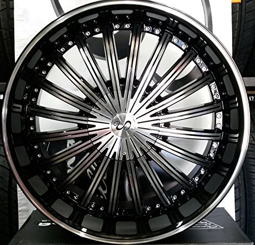 "22"" inch u2-29 WHEELS RIMS & TIRE PACKAGE CHEVY CHRYSLER DODGE BMW 