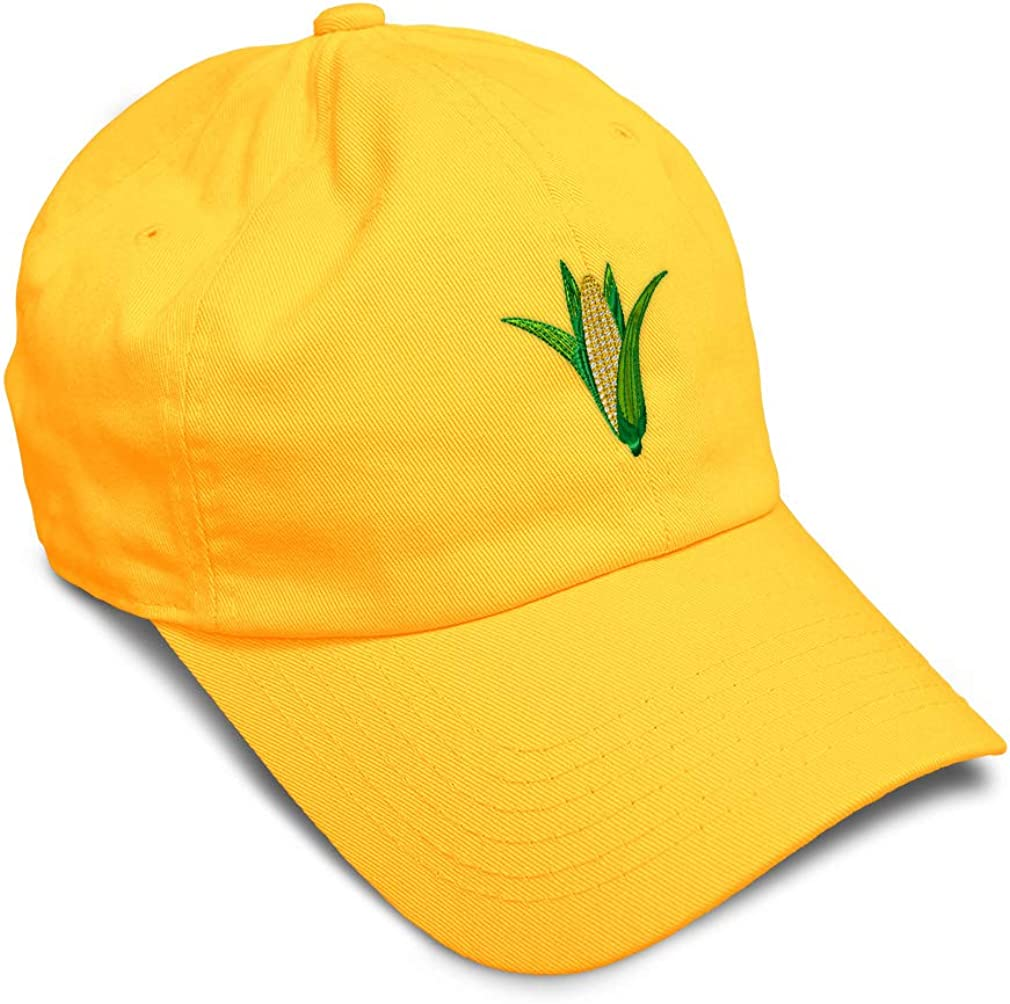 Speedy Pros Soft Baseball Cap Ear of Corn Embroidery Food & Beverage Dad Hats for Men Women