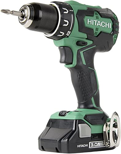 Hitachi DS18DBFL2S 18V Cordless Lithium Ion Brushless High Torque Driver Drill Includes One 3.0Ah Compact Battery