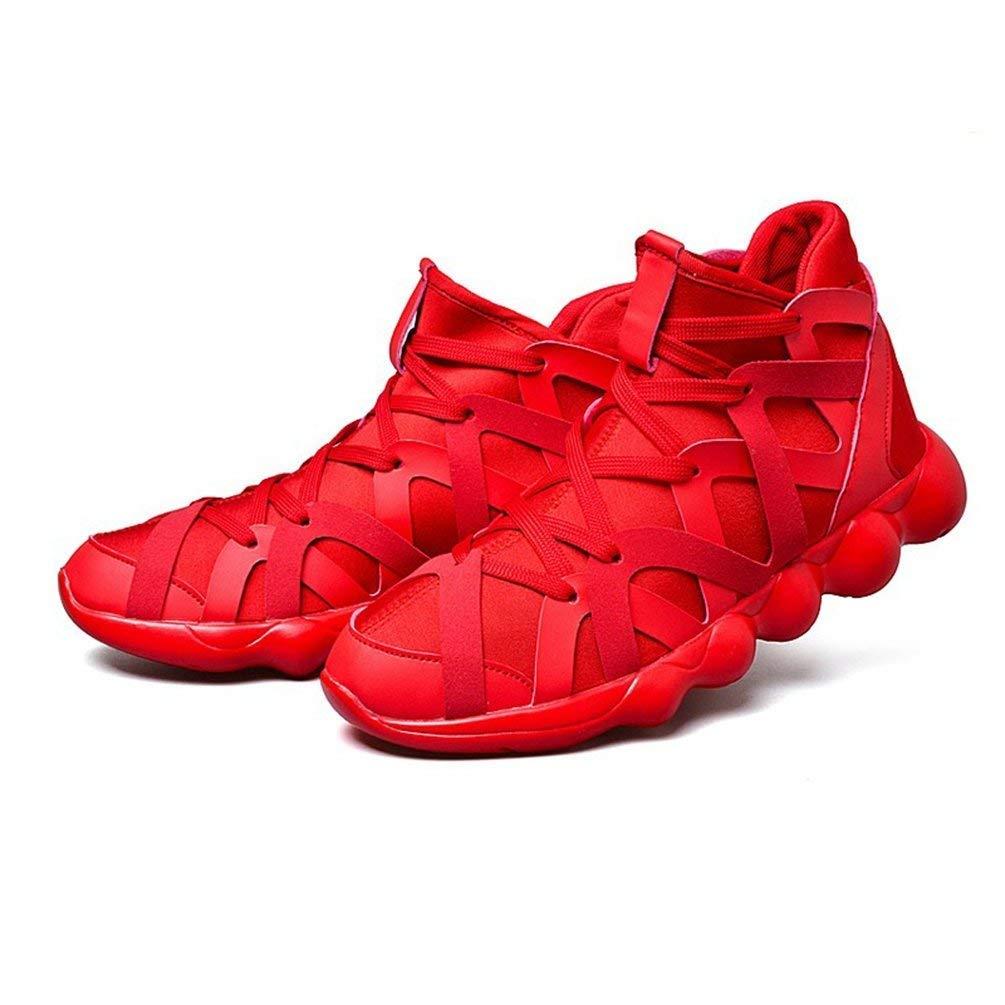 ZHRUI Mens Breathable Breathable Breathable Laufschuhe Männliche Schuhe Männer Turnschuhe Slip-On Komfortable Schuhe Medium Cut Sportschuhe (Farbe   Rot, Größe   9 UK) 5a299c
