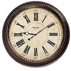 Westclox 32059 Classic Round Marbel Case Wall Clock, 20-Inch