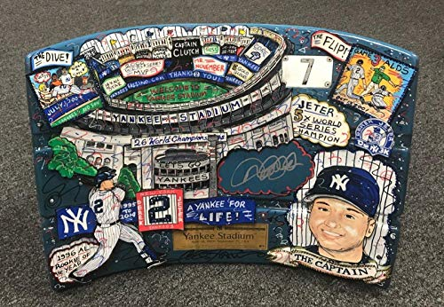 Derek Jeter Signed 1/1 CHARLES FAZZINO POP ART Game Used Seat Back LOA AUTO - JSA Certified - Game Used MLB Stadium Equipment ()