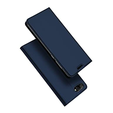 check out 42590 952e3 DUX DUCIS Honor 10 Case, Ultra Fit Flip Folio Leather Case with [Kickstand]  [Card Slot] [Magnetic Closure] Full Body Protection Shockproof Cover for ...
