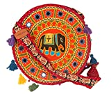 Elephant Hobo Embroidered Crossbody Tote Purse Shoulder Bag Satchel Sling Fashion Woman Colorful Hippie