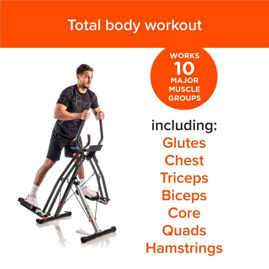 maxi-glider 360 por nueva imagen 10-in-1 casa ejercicio Fitness Trainer + Heart Rate Monitor & Soporte para tablet (as seen on TV de alta calle): Amazon.es: ...