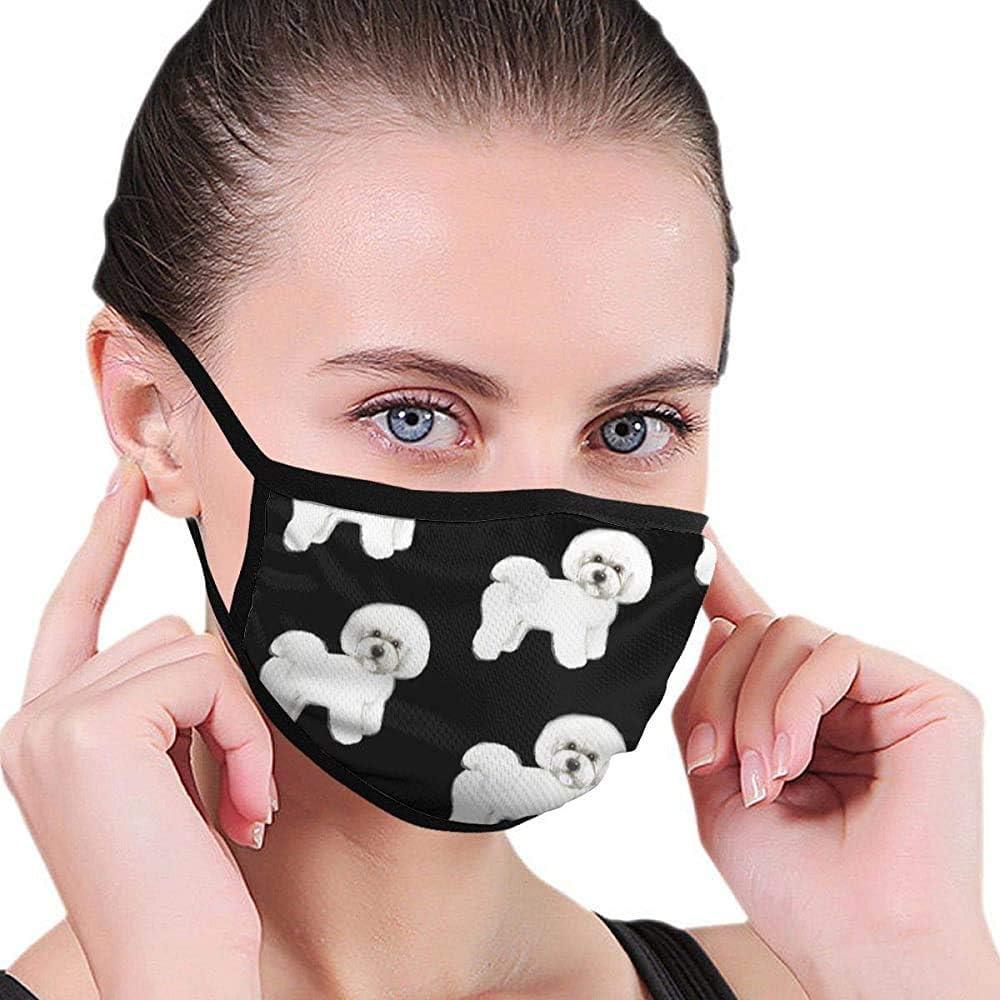Máscara Bichon Frise Máscara de diseñador de la Boca Máscara Belleza Lavable Máscara Lavable y Reutilizable con Banda elástica para el oído