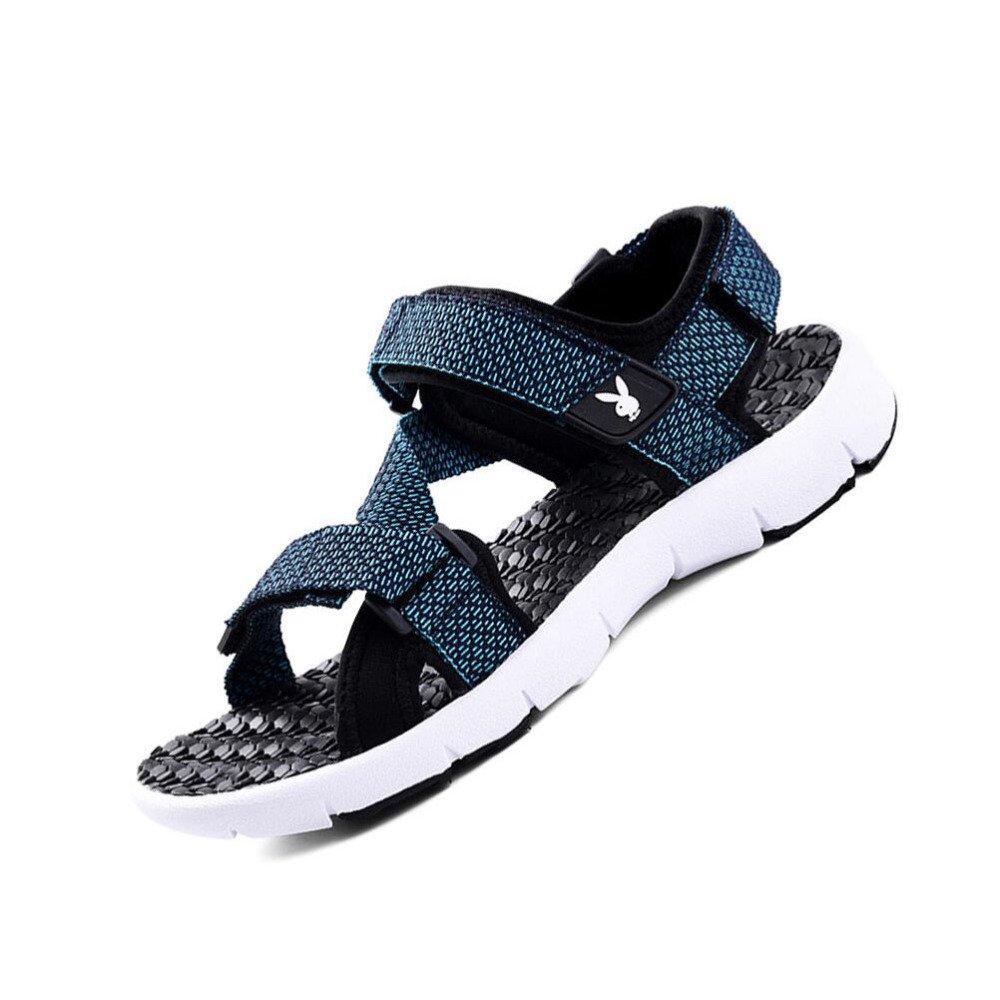 CHENGXIAOXUAN Herrenschuhe 2018 Sommer Neue Sandalen Männer Koreanische Beiläufige Strand Schuhe Studenten Rutschfeste Sandalen Atmungsaktive Leichte Sandalen DarkBlau