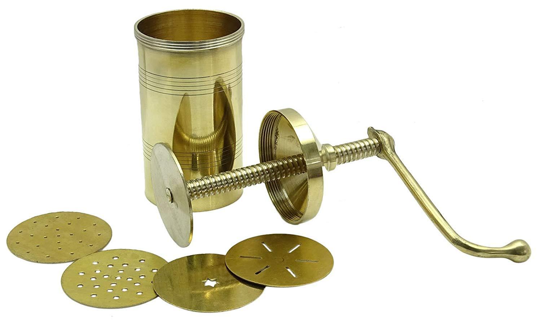 Sev Sancha Pasta Maker| Sev Sancha Gathiya Murukulu Janthikulu Maker Machine With 6 Different Jali - Brass by Tanish Trading