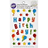 Wilton 710-6075 Kid's Birthday Edible Cake Topper Decorating Kit