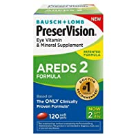 PreserVision AREDS 2 Vitamin & Mineral Supplement, Soft Gels 120 ea (Pack of 4)