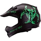 "IV2 Youth/Kid Size ""BIOHAZARD"" High Performance Motocross, ATV, Dirt Bike Helmet [DOT] - Small"