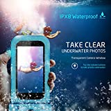"Mpow Waterproof Phone Pouch, IPX8 Universal Waterproof Case Underwater Dry Bag 4-Pack Compatible for iPhone X/8/8P/7/7P, Galaxy S9/S9P/S8/Note 8, Google Pixel/HTC up to 6.0"" (Blue Yellow Green Black)"