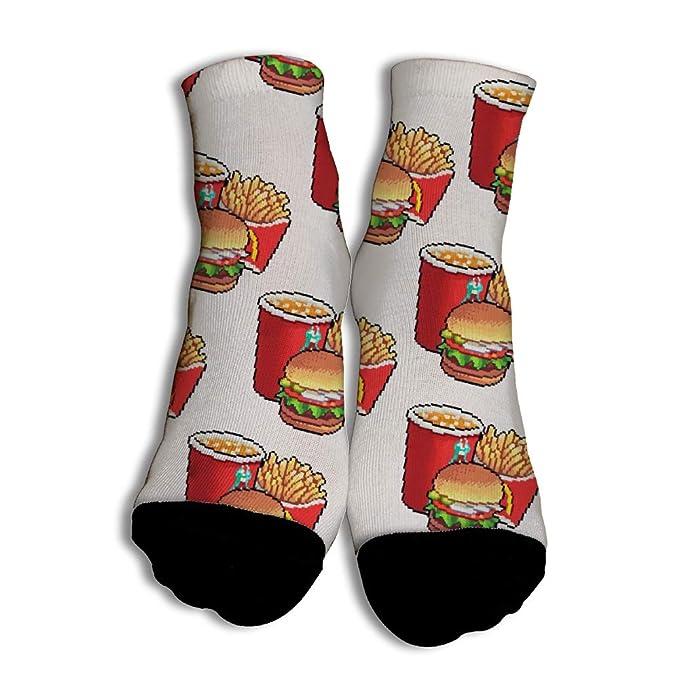 Calcetines Divertidos Burger Fries And Coke para Hombres Mujer Suave Calcetines de Colores de Moda con Algodón Rico para Compras White: Amazon.es: Ropa y ...