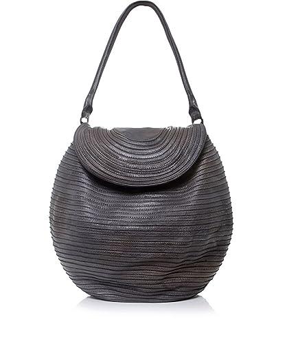 e9409b00b3ed Majo Leather Flap Tote Bag Chocolate One Size  Amazon.co.uk  Shoes   Bags