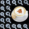 Stylish Chic 16 Pieces Coffee Machine Barista Stencils Templates
