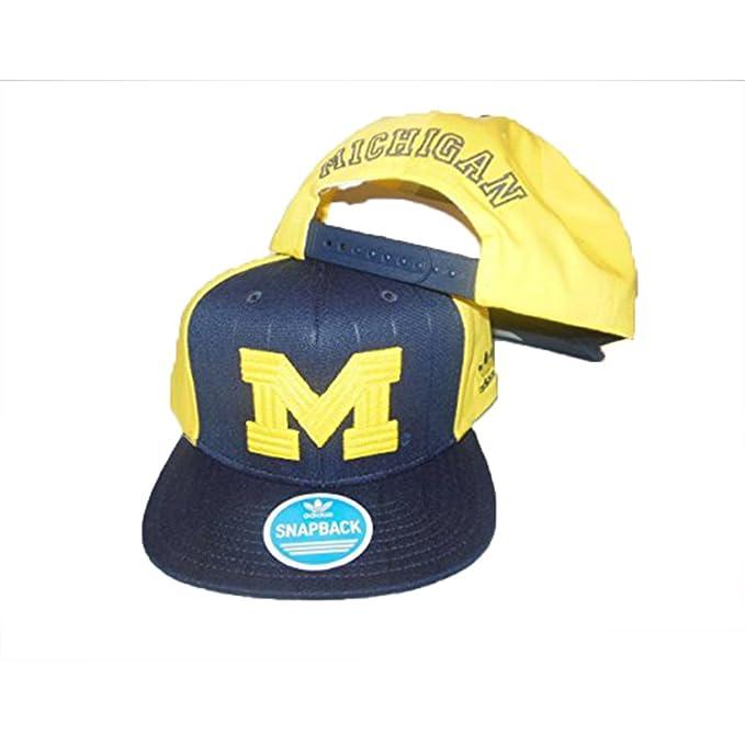 adidas Michigan Wolverines Azul/Amarillo Gorra Talla única: Amazon ...