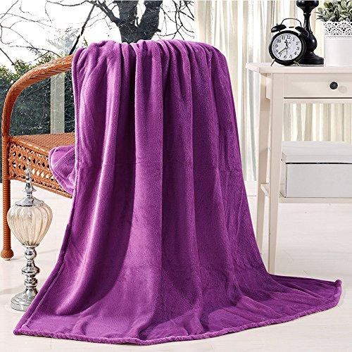 Somewhere Lightweight Fleece Blanket, Super Soft Cozy Plush Luxury Polar Fleece Blanket Couch Throw, The Twin, Purple
