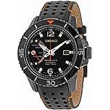 Seiko Sportura Kinetic - Reloj automático , correa de cuero color negro