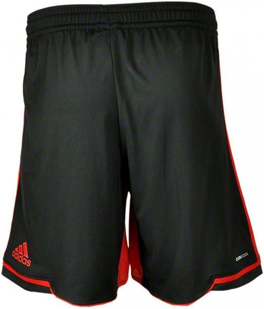 adidas B 04 a SHO Bayer Leverkusen 04 Short Pantalones Pantalones Cortos para Entrenamiento Pantalones, Negro, Small: Amazon.es: Deportes y aire libre