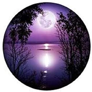product image for Purple Moon Lake 24 inch Round Wall Art