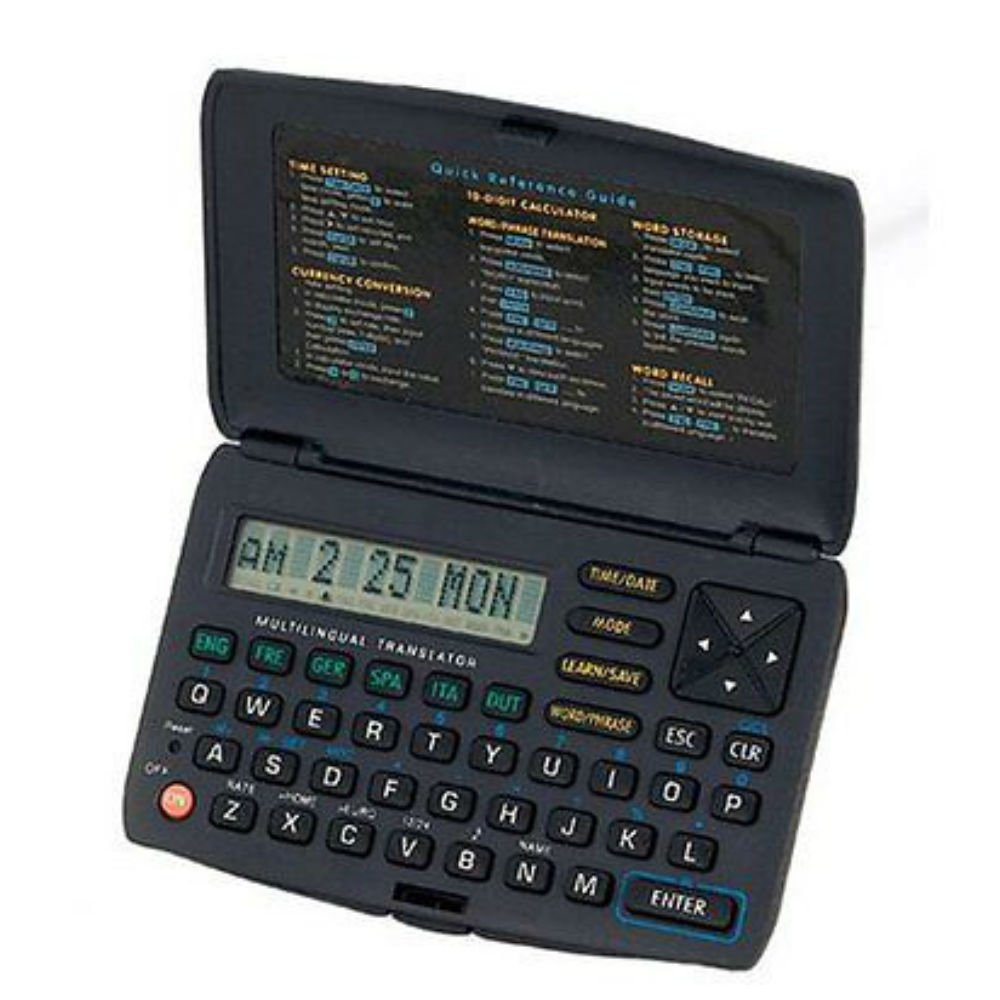 Electronic handheld language translator