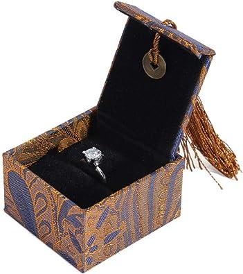 FIONAT Organizadores Y Cajas para Joyas Perlas De Oro Púrpura Pulseras Pulseras Caja De Regalo Caja De Almacenaje del Anillo De Empaquetado del Collar, Caja del Anillo: Amazon.es: Joyería