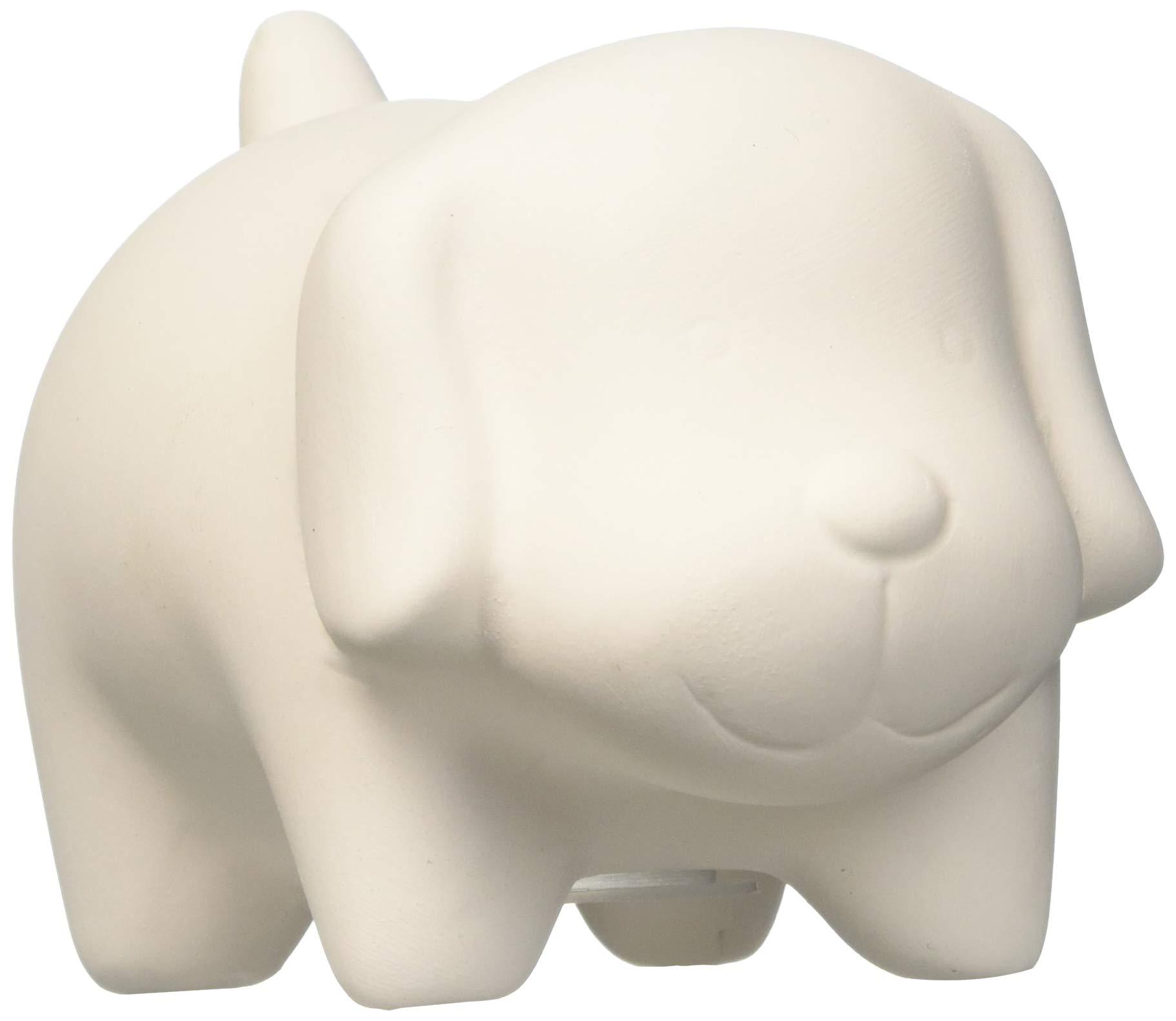 Ceramic Bisque Puppy Banks