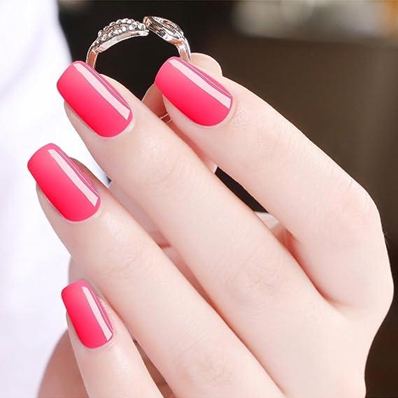 Esmalte de uñas de gel de un paso, no necesita base, Saviland 3 en 1 Soak Off UV LED esmalte de uñas Kit: Amazon.es: Belleza