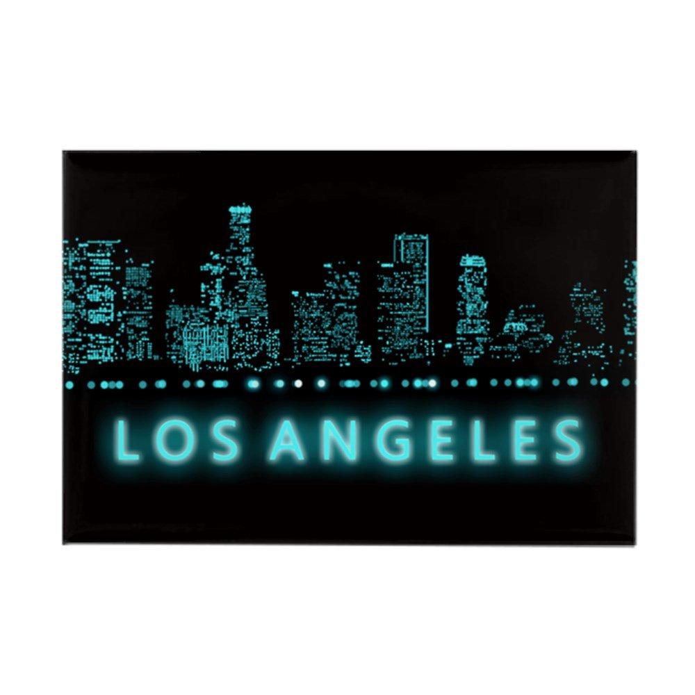 "CafePress Digital Cityscape: Los Angeles, C Rectangle Magnet, 2""x3"" Refrigerator Magnet"