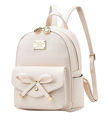 design intemporel f4ec5 09908 Baymate Femme Sac à dos Mode Backpack School Voyage Poids Léger Cartable  Bowknot Détail