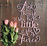 Avery Carey Nursery Wood Words Cursive Font Cutout Baby Room Wall Art Though She Be Quote