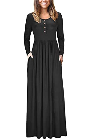 Irene Inevent Womens Shortlong Sleeve Maxi Dress With Pockets