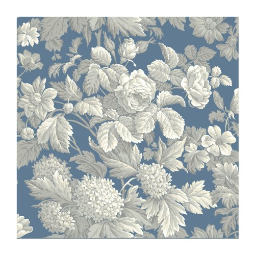 York Wallcoverings KC1845SMP French Dressing Antique Floral 8-Inch x 10-Inch Wallpaper Memo Sample, Wedgwood ()