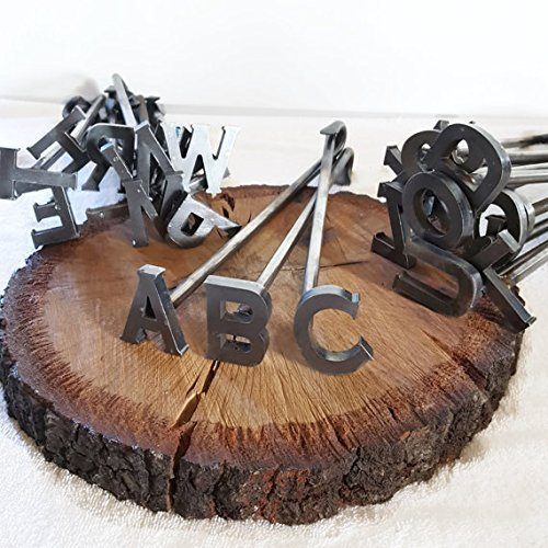 A-Z Alphabet Branding Irons - 26 Letters - Custom Cowboy Monogram - The Heritage Forge