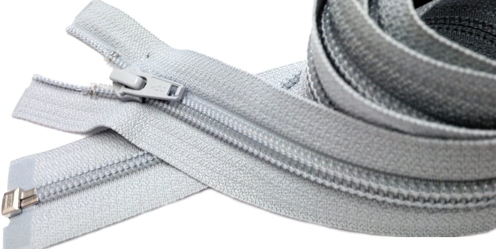 YKK #5 Aluminum Metal ~ Medium Weight ~ Separating ~ S926 Eldge of Night Gray 1 Zipper//pack 31\ Jacket Zipper