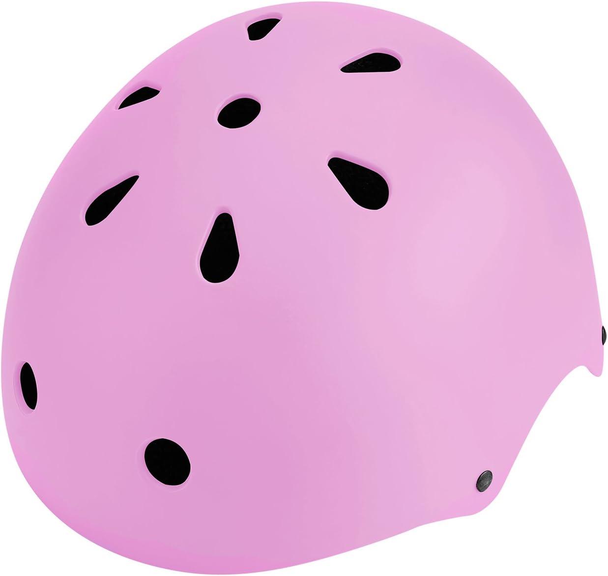 SKL Sport Helmet 49-55cm, Medio Matt Colorful Kids Helmet Ciclismo Casco ABS Shell para Skateboard//Ski//Skating//Roller Protective Gear