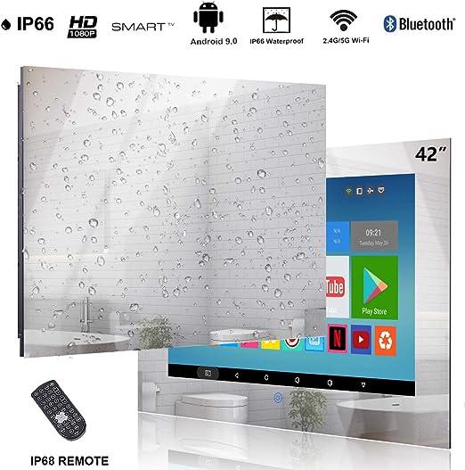 Haocrown TV a Prueba de Agua TV con Espejo TV Inteligente TV con baño (42, Espejo): Amazon.es: Electrónica