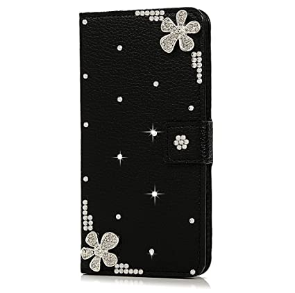 reputable site 9ad31 9166c LG G5 beautiful Case, Handmade Magnet Diamond Flip DIY 3D Bling Pearl  Rhinestone Floral Sparkling Leather Cover Stand Pouch Wallet Phone Case for  LG ...